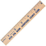 6 Inch Natural Finish Flat Wood Rulers